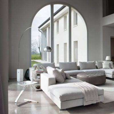 Arco lampadar modern orientabil Flos