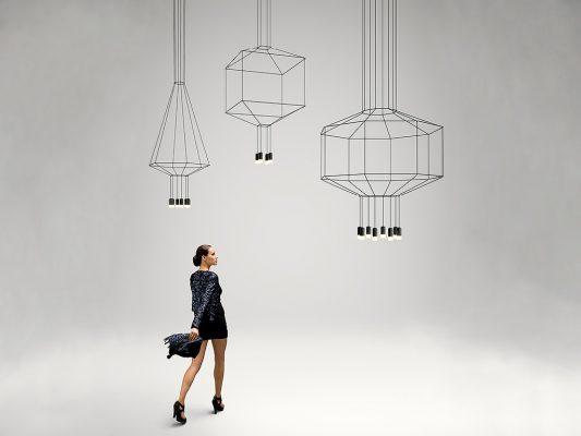Candelabru Wireflow, Vibia - lampi minimaliste.