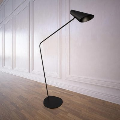 Lampadar design Vibia, corpuri iluminat interior rezidential.