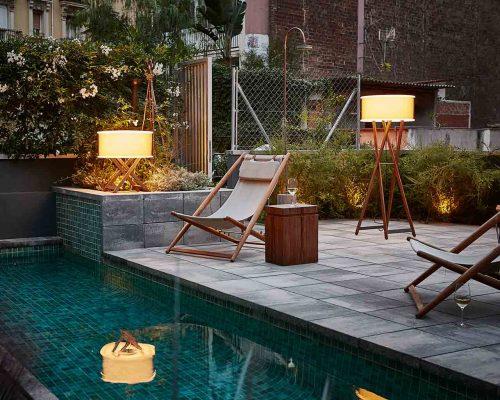 lămpi pentru iluminatul exterior, design modern