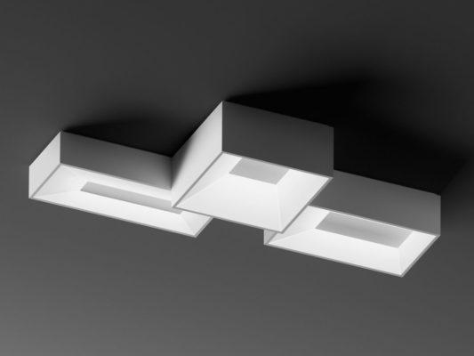 Plafoniere cubice, lampi de tavan Link, Vibia.