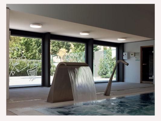 plafoniera piscina Vibia