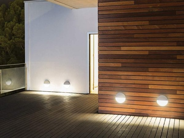 aplice led exterior eclipse design italian