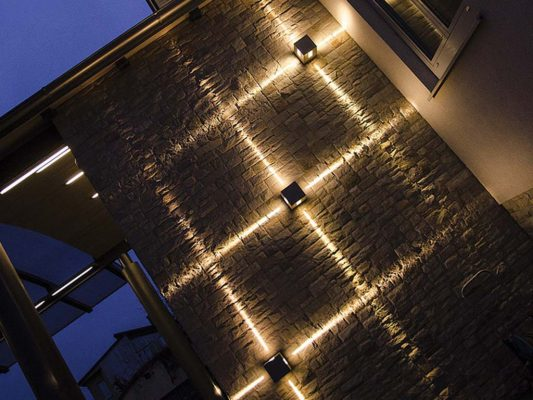 Colecție aplice iluminat arhitectural exterior fațade