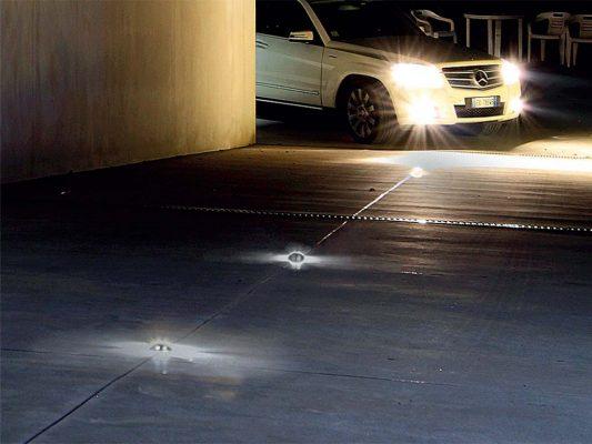 corpuri de iluminat incastrate in asfalt pavaj