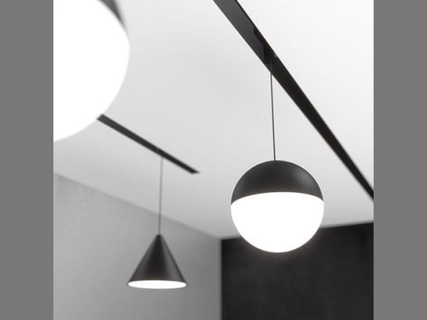 sine magnetice cu lampi suspendate string light flos
