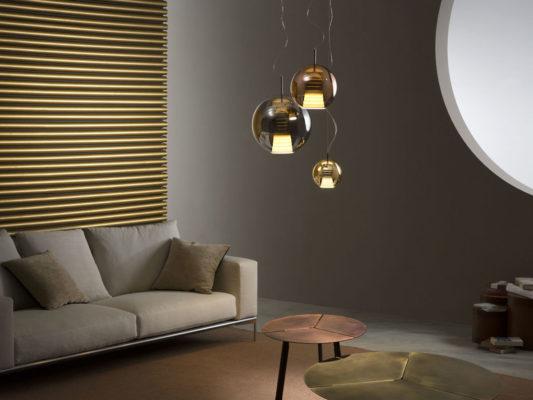 lampa suspendata din sticla italia fabbian