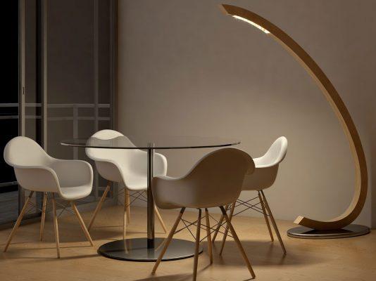 lampadar lemn birou