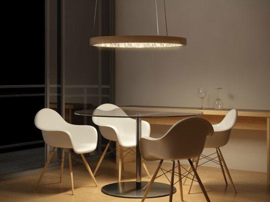 lampa suspendata zona dining Italia