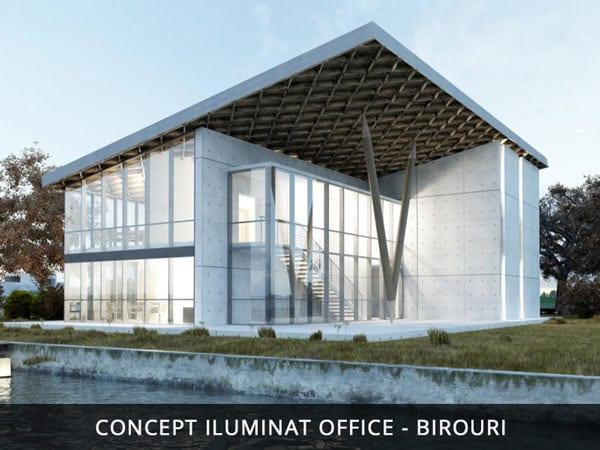 Iluminat arhitectural office, design iluminat birou