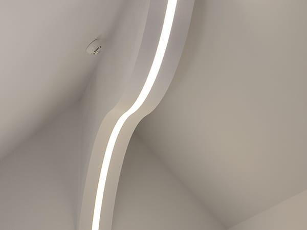 iluminat arhitectural interior, profile curbe led