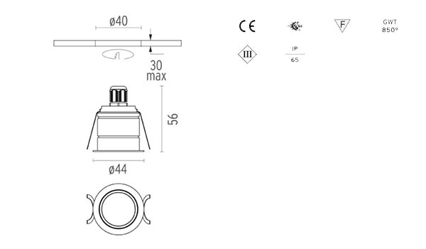 spot led incastrat design minimalist flos italia
