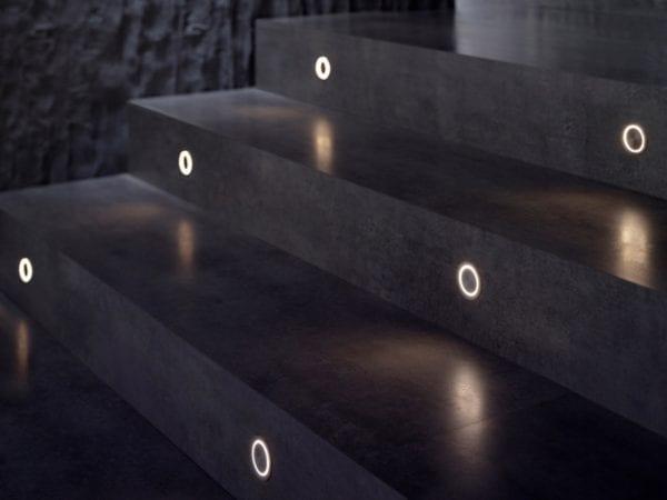 spot led incastrat iluminat scari Flos