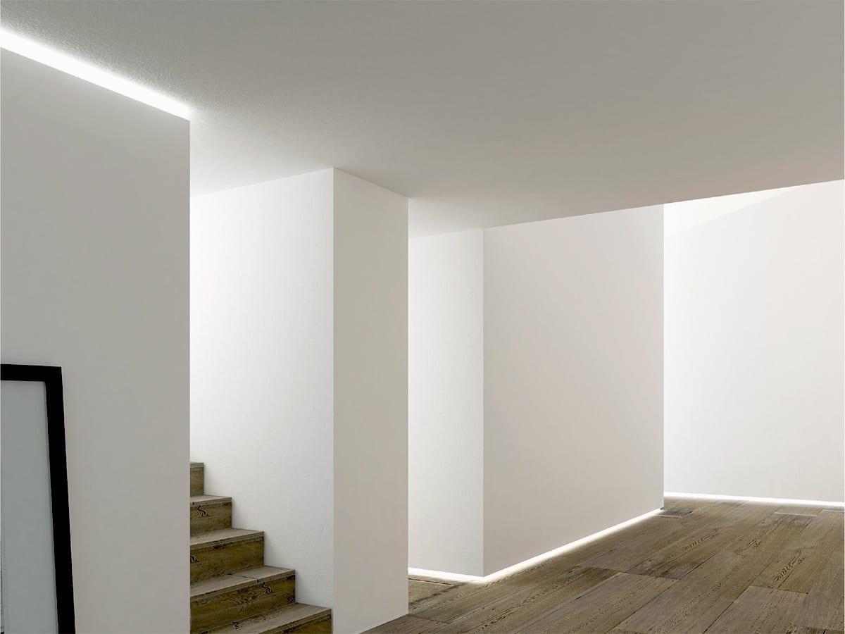 profil iluminat arhitectural plinta aluminiu led