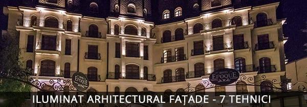 Iluminat arhitectural fatade, Hotel Epoque