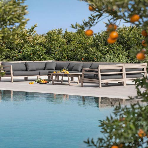 canapea modulara mobilier outdoor Italia