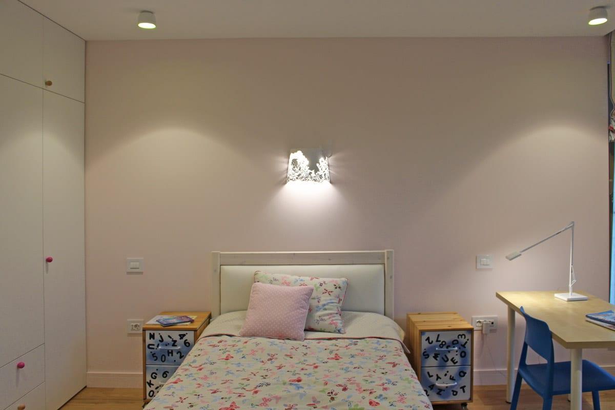 Amenajare dormitor copii, design iluminat interior