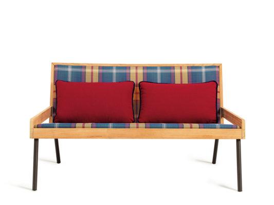 canapea exterior stil rustic lemn masiv