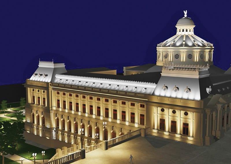 iluminat fatade Patriarhia Romana