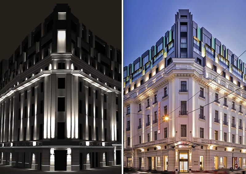 simulare design iluminat arhitectural fatade