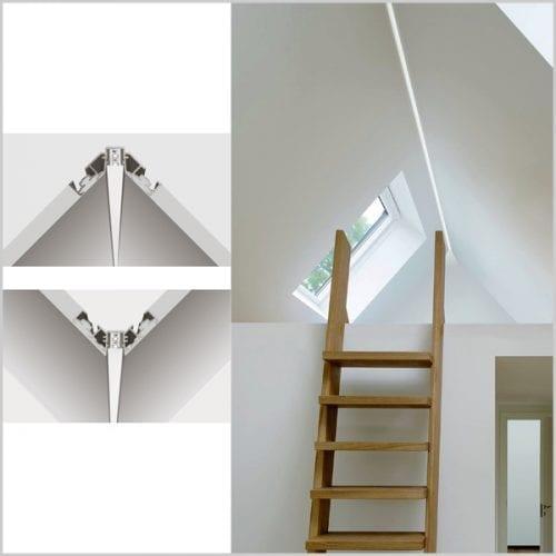 iluminat arhitectural interior - profil led iluminat colt