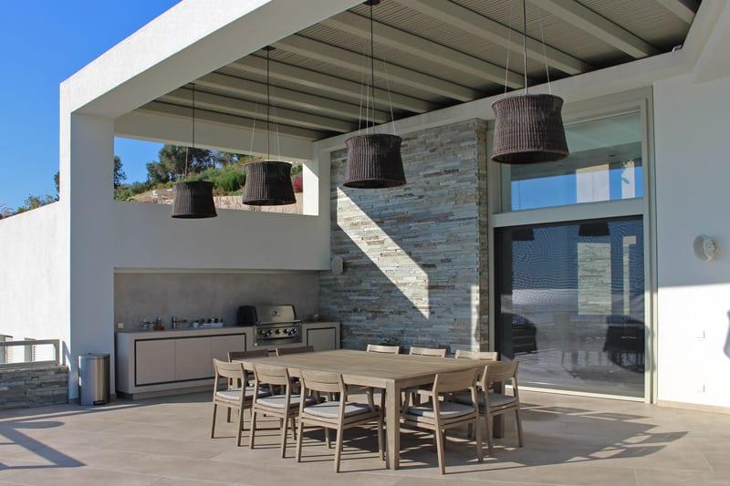 Iluminat exterior terasa- lampi suspendate decorative