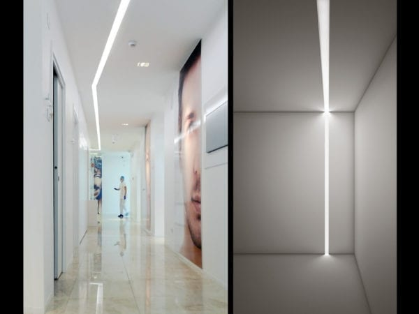 profile led incastrate iluminat comercial
