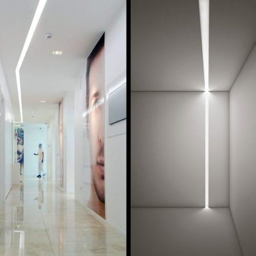 profile led aluminiu tavan
