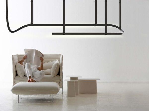 corpuri iluminat led modulare suspendate belt flos