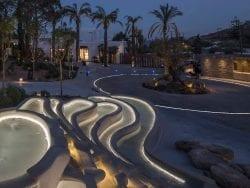 design iluminat fantana piscina