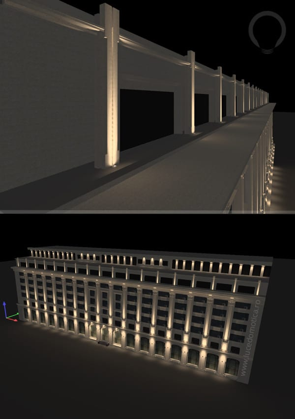 Iluminat arhitectural fatade concept