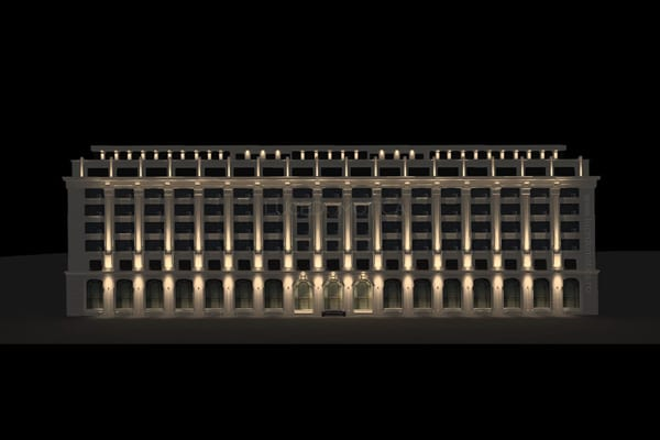 Iluminat arhitectural fațade Lucedomotica