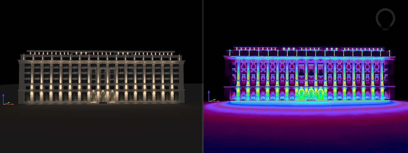 concept iluminat arhitectural fatade