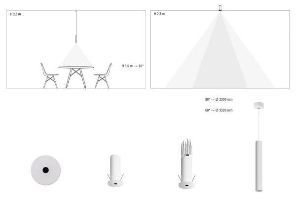 lampi suspendate iluminat arhitectural interior linea light