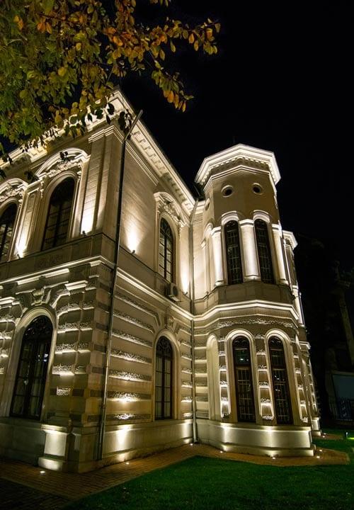 detaliu iluminat arhitectural fațade