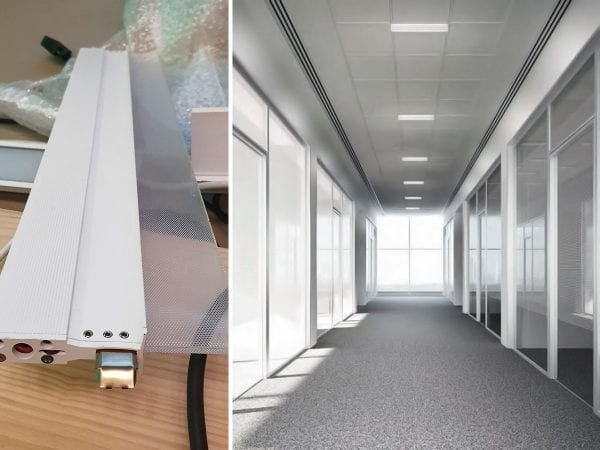iluminat office birou, profile led tavan