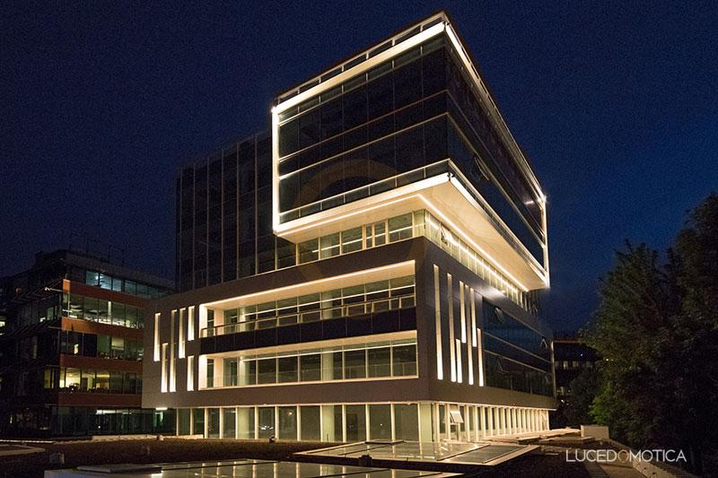 iluminat arhitectural fatade cladire birouri