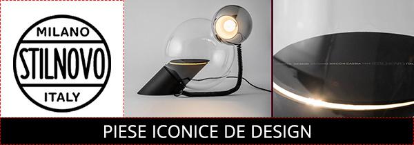 Corpuri de iluminat design consacrat Italia 1960 - 1970