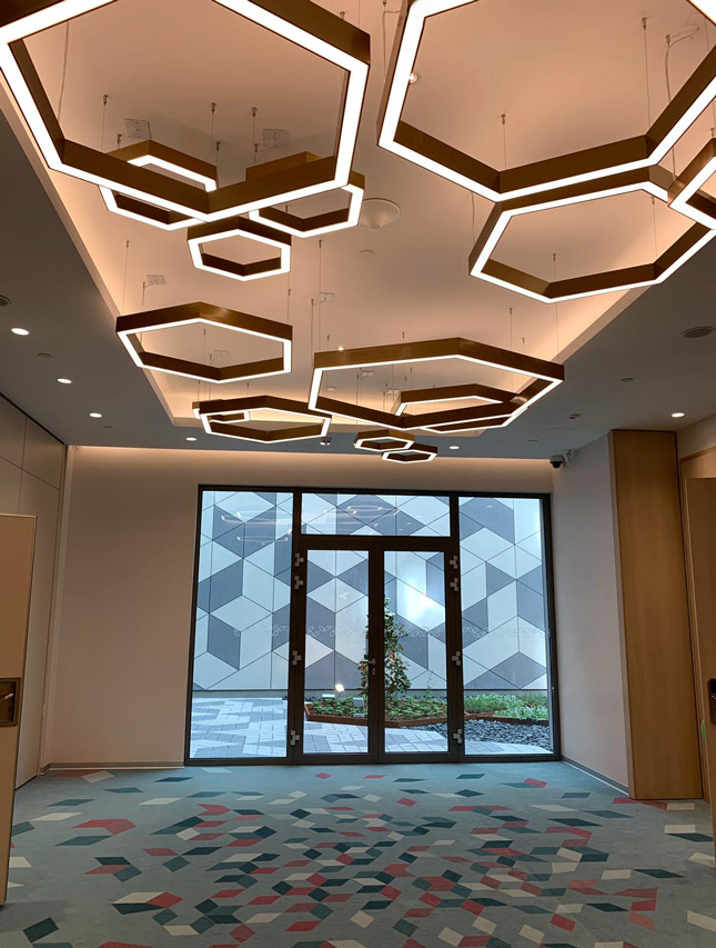 Design iluminat arhitectural recepție hotel