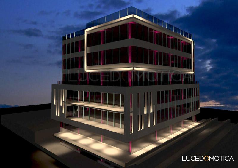 Calcul luminotehnic fațadă clădire