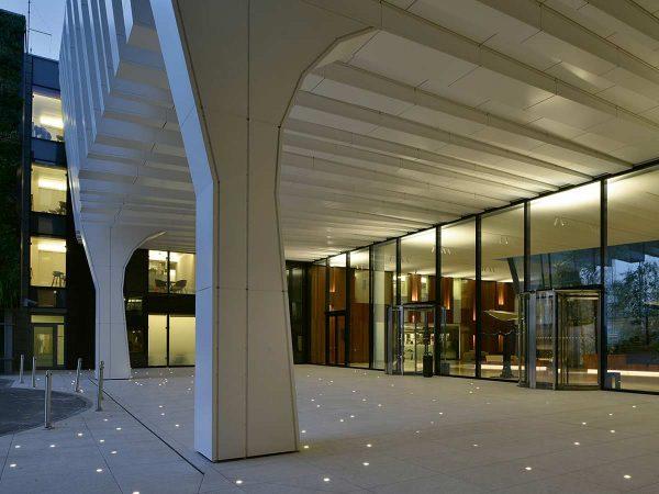 spoturi incastrate exterior iluminat arhitectural
