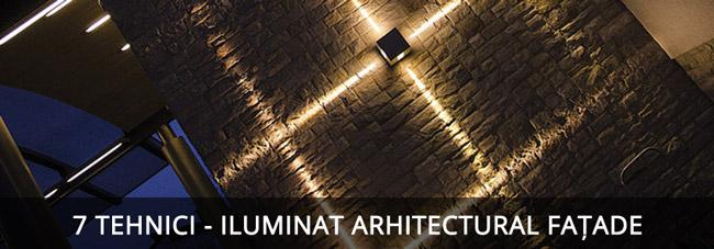 Design iluminat arhitectural fațade